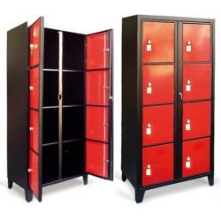Casiers élèves visitables Eco 1 colonne 4 cases L45xP55xH208 cm