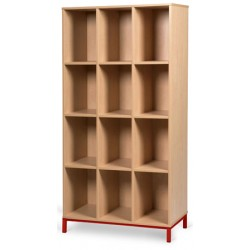 Meuble 12 cases ouvertes sur socle L90xP45xH183 cm