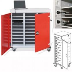 Armoire sécurisée mobile 1 colonne de 10 cases pour portables et tablettes