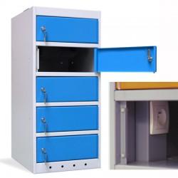 Armoire sécurisée 5 cases pour portables et tablettes L40xP50xH90 cm