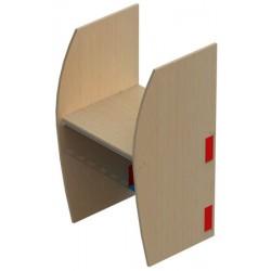 Poste informatique simple départ 2 pieds cloisonnettes L67,6xP63xH130 cm
