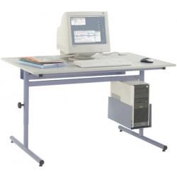 Table informatique Alpha : option goulotte tôle L 67 cm pour tables L 80 à 100 CM