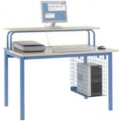 Poste informatique : option réhausse 120x40 cm