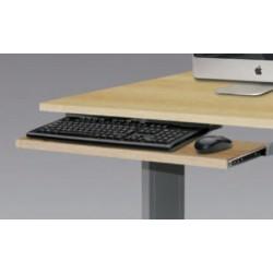Tirette clavier tole coulissante pour poste info sécurisé