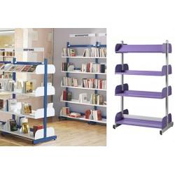 Rayonnage bibliothèque Vénus : travée départ double face H160 cm
