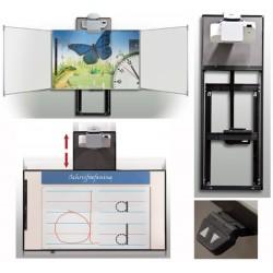 Système mural motorisé pour tableau et triptyque