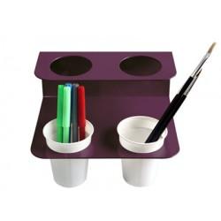 Accessoire porte gobelet acier coloris pour 4 gobelets