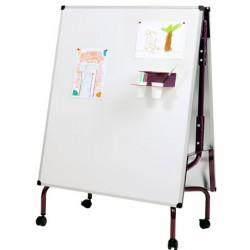 Chevalet maternelle sur Piètement mobile 2 tableaux 92x108 cm