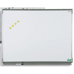 Tableau mural émaillé NF éducation E3 ( blanc feutre ) 100x200 cm