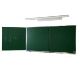 Tryptique émaillé NF éducation E3 (vert craie) 100x300 cm