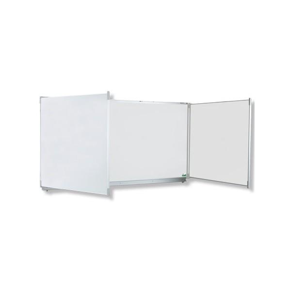Tryptique émaillé NF éducation E3 (blanc feutre) 100x300 cm