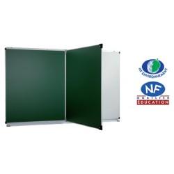 Tableau d'écriture formant diptyque vert 100x200 cm
