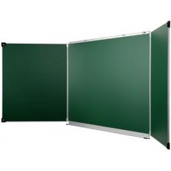 Tableau d'écriture vert triptyque 100x200 cm NF Education