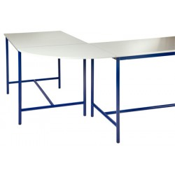 Plateau de jonction 90° pour table de techno stratifié chant ABS