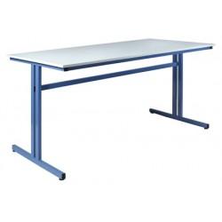 Table de travail 160x80xH100 cm plateau stratifié chant ABS