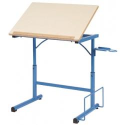 Table à dessin d art hauteur réglable 70x50 cm mélaminé chant ABS T6