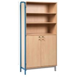 Bibliothèque armoire L90xH183 xP45 cm avec Piètement latéral