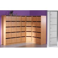 Armoire modulaire 2 colonne 10 portes pleines avec morillons L78,5xP42xH180 cm