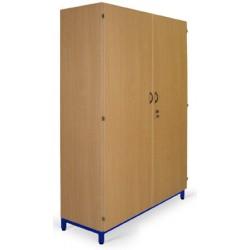 Armoire haute 2 portes 4 tablettes sur socle L90xP45xH180 cm