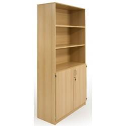 Armoire bibliothèque 2 portes 4 tablettes L90xP45xH180 cm