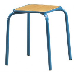 Tabouret assise carrée H45 cm
