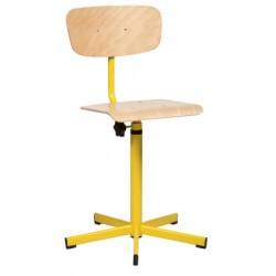Chaise laboratoire réglable en hauteur sans repose pieds
