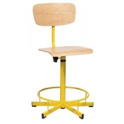 Chaise laboratoire réglable en hauteur avec repose pieds