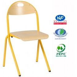 Chaise scolaire FLorence appui sur table hêtre T4 à T6