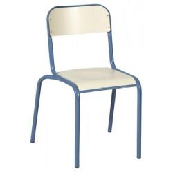 Chaise scolaire Maël stratifiée 4 pieds chants protégés T4 à T6