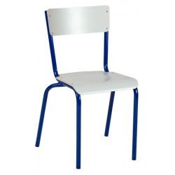 Chaise scolaire Eco 4 pieds assise et dossier stratifié NF T4 à T6