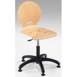 Chaise informatique réglable en hauteur sur patins