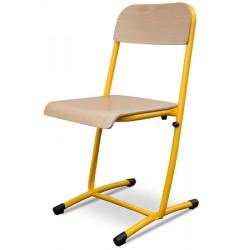 Chaises scolaires Mylène dégagement latéral et appui sur table T4 à T7