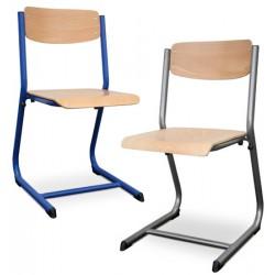 Chaises scolaires Hortense dégagement latéral et appui sur table T4 à T7