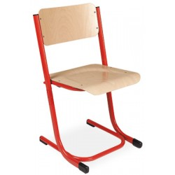 Chaise scolaire empilable et appui sur table Anne reglable taille T5 a T7