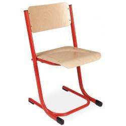 Chaise scolaire empilable et appui sur table Anne reglable T3 a T5