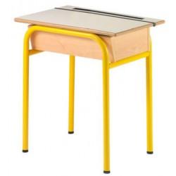 Table pupitre avec casier ouvrant 70x50 cm stratifié