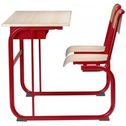Table pupitre à dégagement latéral avec casier 130x50 cm stratifiée chant alaise