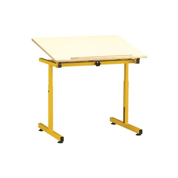 Table Pour Handicape 90x65 Cm Plateau Inclinable Melamine Chant