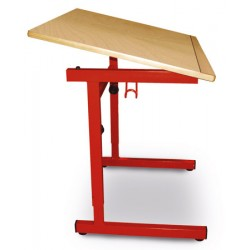 Tables réglable pour enfant à mobilité réduite stratifié alaise bois 100x65 cm