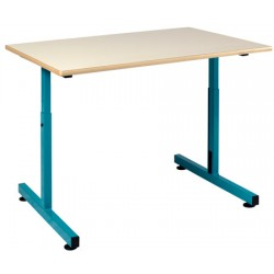 Table PMR 90x65 cm plateau fixe stratifié chants alaise