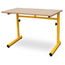 Table scolaire réglable Clémentine mélaminé PVC 130x50 cm T4 à T6