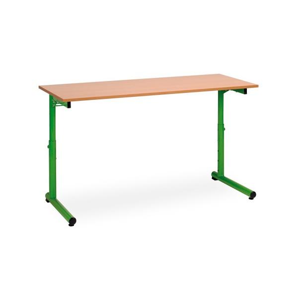 Table scolaire reglable a degagement lateral Meline 70x50cm plateau stratifié chant alaisé T3 a T7