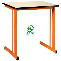 Table scolaire Volga 130x50 cm mélaminé chant ABS T4 à T6