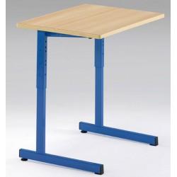 Lot de 2 tables scolaires NF à dégagement latéral Quatro mélaminé PVC 70x50 cm réglables T3 à T6 autres coloris