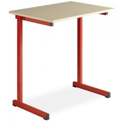 Table scolaire a degagement lateral Fanny 70x50cm plateau mélaminé chant PVC T4 a T6