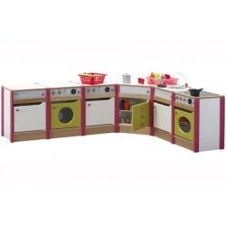 Cuisine complète avec 6 meubles et tablettes d'angle