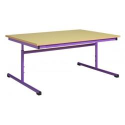 Table maternelle réglable 200x80 cm mélaminé chants PVC