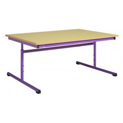 Table maternelle réglable 160x80 cm mélaminé chants PVC
