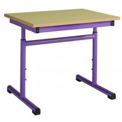 Table maternelle réglable 60x60 cm mélaminé chants PVC