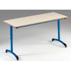 Table maternelle réglable NF T1 à T4 à dégagement latéral Loulou stratifié 120x50 cm
